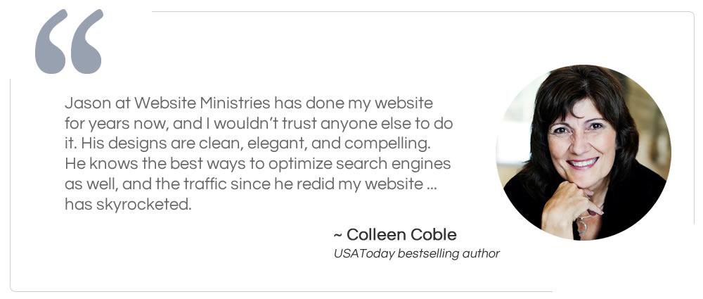 Author Colleen Coble Testimonial