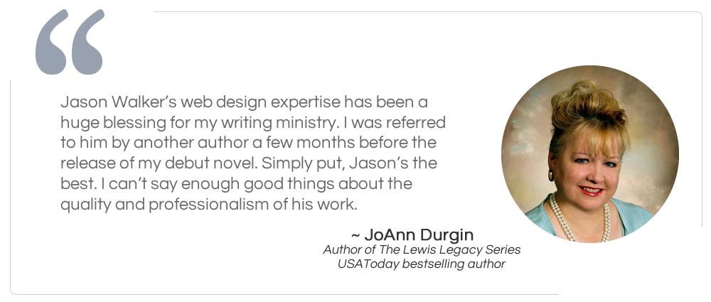 Author JoAnn Durgin Testimonial