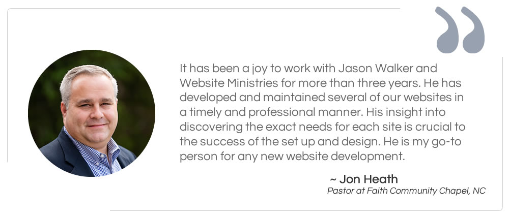 Pastor Jonathan Heath Testimonial